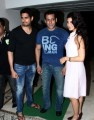Actor Salman Khan, Sidharth Malhotra, and Jaqueline Fernandez, at Sidharth Malhotra hosted party for Ek Villain success at his residence in Mumbai