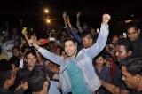 Actor Varun Dhavan during the promotion of film Badlapur in Mumbai
