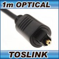 1m Optical Audio Cable Digital Fibre Toslink Lead SPDIF Plug
