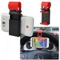 Car Steering Wheel Universal Mobile Phone Socket Stand Holder Clip
