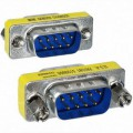 9 Pin RS-232 DB9 Male to Male Serial Cable Gender Changer Cuppler Adapter