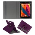 KOKO ROTATING 360 LEATHER FLIP CASE FOR Dell Venue 7 3741 TABLET STAND COVER HOLDER PURPLE