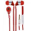 KFM Zipper Earphone Red (Headfree) Compatible With Acer Liquid E2628