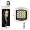Portable Mini 16 LED Night Using Selfie Flash Fill-in Light Pocket Spotlight for all smartphones  ap