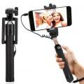 Accincart Selfie Stick Monopod With Easy Aux Selfie Stick  (Black)