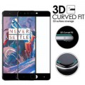OnePlus 3T / 1+3 / Oneplus 3 / One plus 3 Full Edge To Edge Cover BLACK Curved Tempered Glass Screen