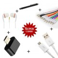 Mini OTG + V8 Micro OTG Cable + Aux Cable + Touch Screen Stylus Pen + High Bass Earphone