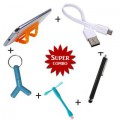 Combo of + Aux Spliter + USB Fan + Touch Screen Stylus Pen + 2 in 1 Y Aux Spiliter + Mobile Card Hol