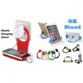 Combo of Charging Stand and Ok Stand (Assorted Colors)