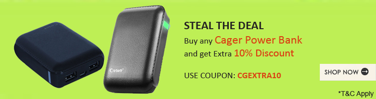 Offer for 10% Off on Cager Powerbanks