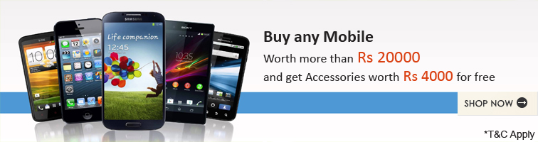 Offer for Free Mobile Accessories worth Rs.4000
