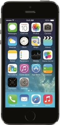 Apple - iPhone 5S (Space Grey, with 64 GB)